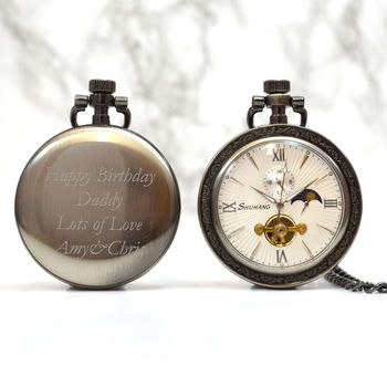 Bronze Open Face Personalised Pocket Watch
