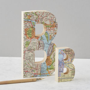 Map Location Wooden Letter Wedding Anniversary Gift
