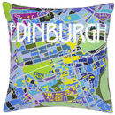 Contemporary Edinburgh Map Tapestry Kit
