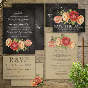 The Beauty Of Romance Wedding Invitations - wedding stationery