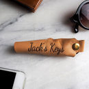 Leather Key Case Holder Can Be Personalised