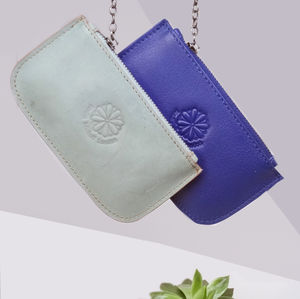 'Complete Me' Real Leather Attach/Detach Coin Purse