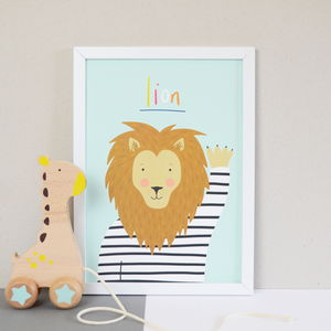 Children's Lion Print - posters & prints
