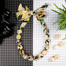 Chunky Fabric Bead Necklace 'Afrika Flickering'
