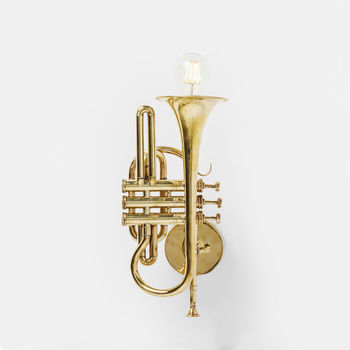 Gold Trumpet Wall Light