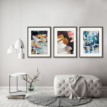 Abstract Art Prints Set Of Three Wall Art