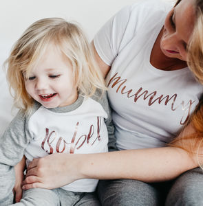 Mother's Day Personalised Script Family Pyjamas - lingerie & nightwear