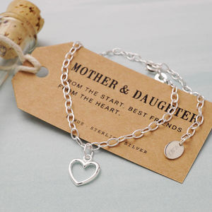 Mother And Daughter Silver Bracelet