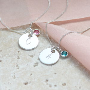 Personalised Necklace With Mini Birthstone