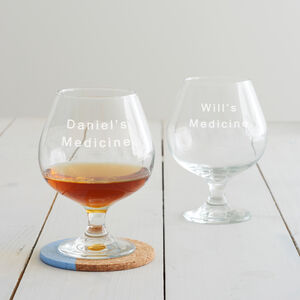 Personalised 'Medicine' Glass