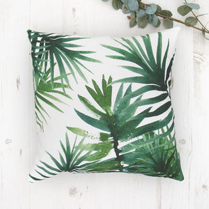 Green Tropical Cushion - bedroom