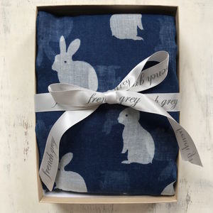Bunny Rabbit Print Scarf - womens