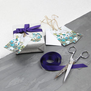 'Yay!' Apophyllite And Chrysocolla Luxury Gift Tags - new in