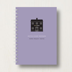 Personalised New Home Planner Or Notebook - writing