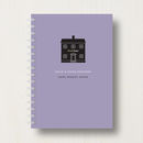 Personalised New Home Planner Or Notebook in dark mauve