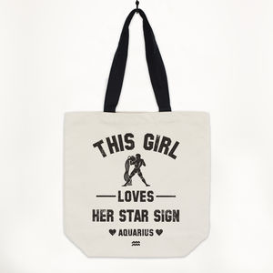 Aquarius Women's Zodiac Star Sign Tote Bag