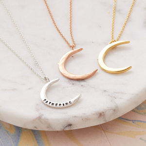 Personalised Moon Necklace