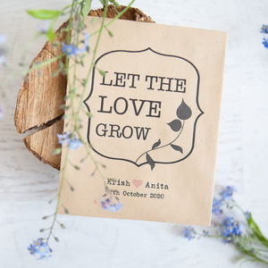 Stunning Unique Wedding Favours  Notonthehighstreetcom With Exquisite  Let The Love Grow Seed Packet Favours With Breathtaking Garden Of Worlds Also Retro Garden Furniture In Addition Ashridge Manor Garden Centre And Garden Tractor Mower As Well As Fence Ideas For Garden Additionally Modern Garden Design Plants From Notonthehighstreetcom With   Exquisite Unique Wedding Favours  Notonthehighstreetcom With Breathtaking  Let The Love Grow Seed Packet Favours And Stunning Garden Of Worlds Also Retro Garden Furniture In Addition Ashridge Manor Garden Centre From Notonthehighstreetcom