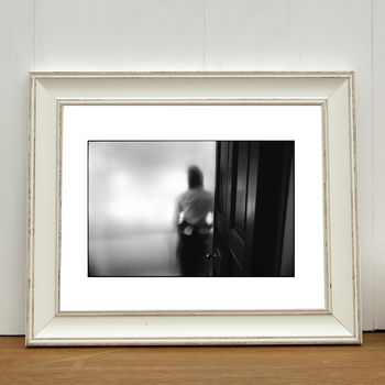 Waitress Behind Frosted Glass Photographic Art Print