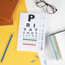 Eyechart Private Notes Notebook
