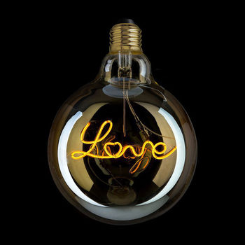Love Filament Light Bulb