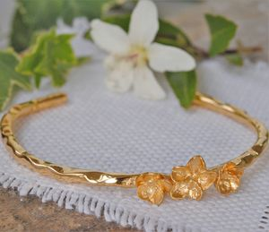 Gold Blossom Bangle - summer sale