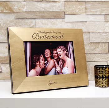 Bridesmaid Photo Frame in Gold