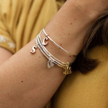 Lowercase Initial Bangle