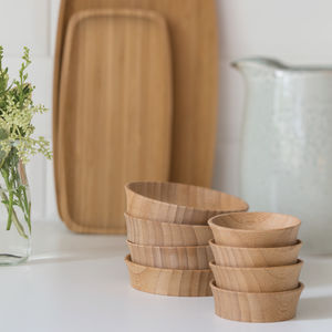 Bamboo Condiment Cups - cooking & food preparation