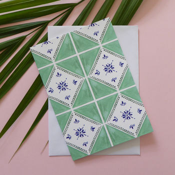 Green Tile Design Card