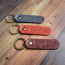 Personalised Italian Leather Key Fob