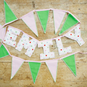 Personalised Letter Bunting - gifts for babies