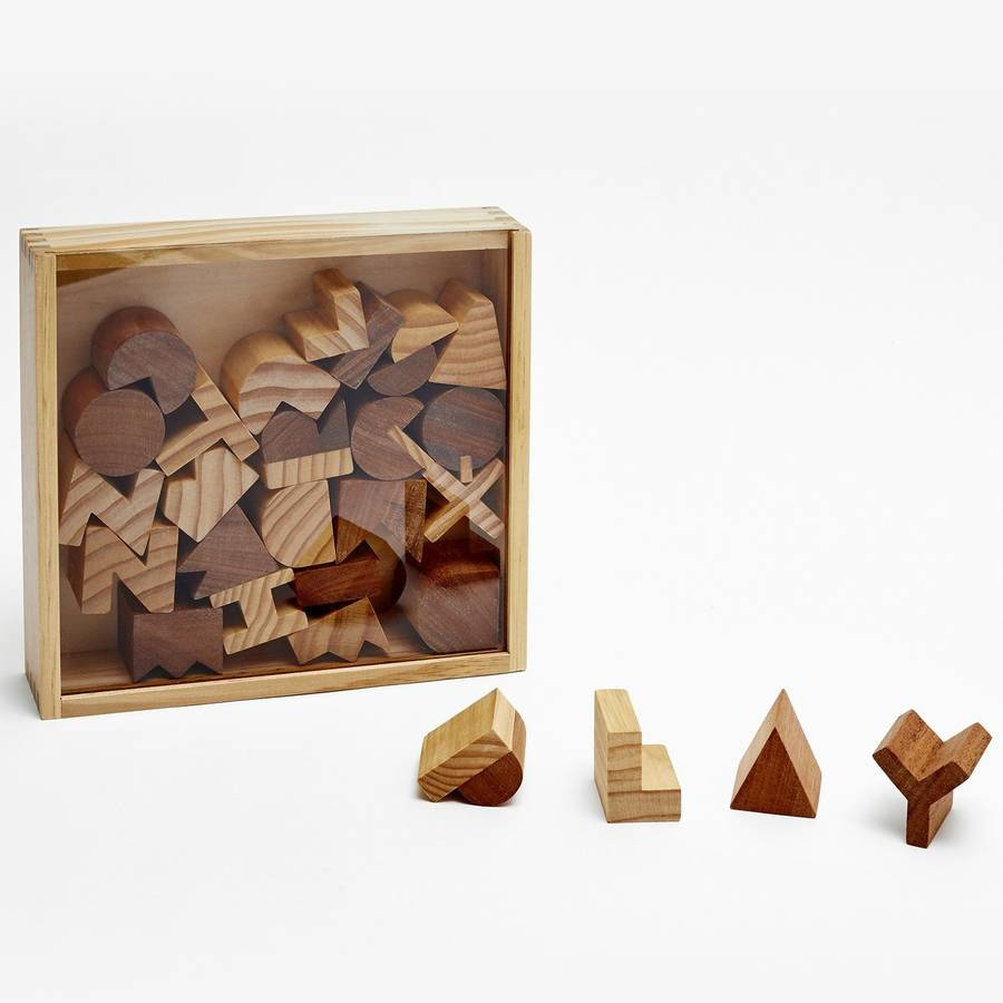 Wooden Alphabet Block Set By Berylune