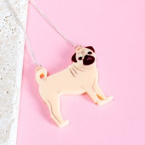 Pug Necklace - pet-lover