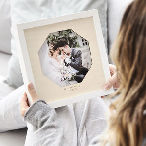 Wooden Personalised Wedding Photo Frame - shop by subject