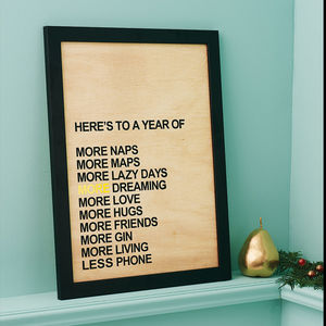 Personalised 'A Year Of More…' Print - gifts for him