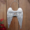 Metal Hanging Angel Wings Candle Holder
