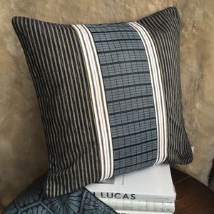 Vintage Stripe Smart Square Cushion Cover - cushions
