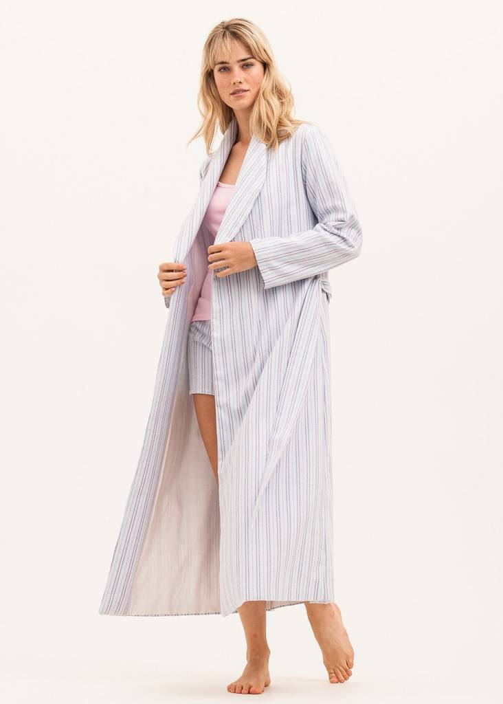 brushed cotton dressing gown more colours available by pj. Black Bedroom Furniture Sets. Home Design Ideas