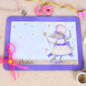 Purple Ballerina Placemat - kitchen