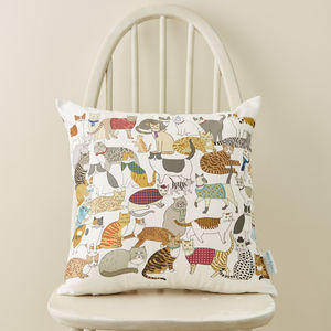 Crafty Cats Cushion - cushions