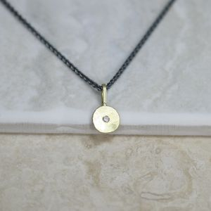 18ct Gold 'Sun And Star' Necklace - gold