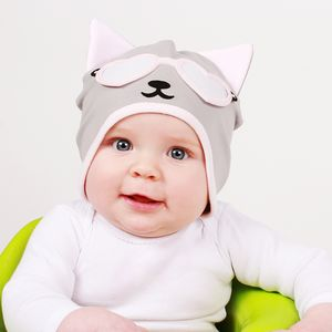 Girl's Kitty Cat Hat Marshmallow Pink