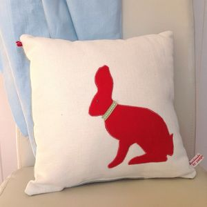 Bunny Design Handmade Cushion