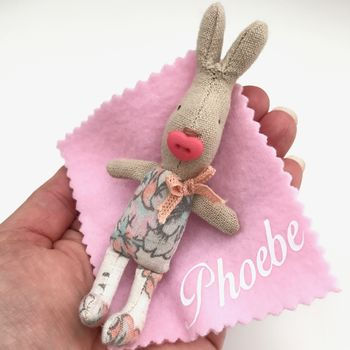 Personalised Baby Girl Rabbit