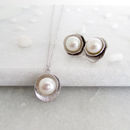 Classic Silver Pearl Jewellery Set