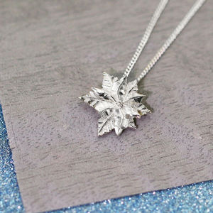 Sterling Silver Poinsettia Necklace