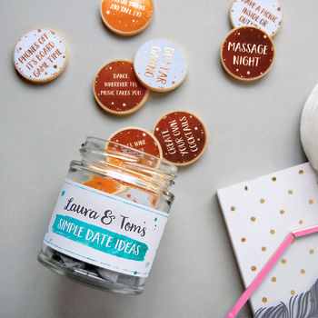 Personalised Couple's Date Ideas Jar