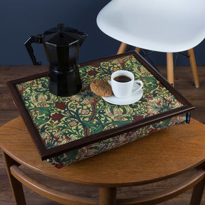 Bean Bag Lap Tray In William Morris Golden Lily - kitchen