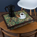 Bean Bag Lap Tray In William Morris Golden Lily